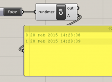 Simple timer component implemented in C# in Grasshopper