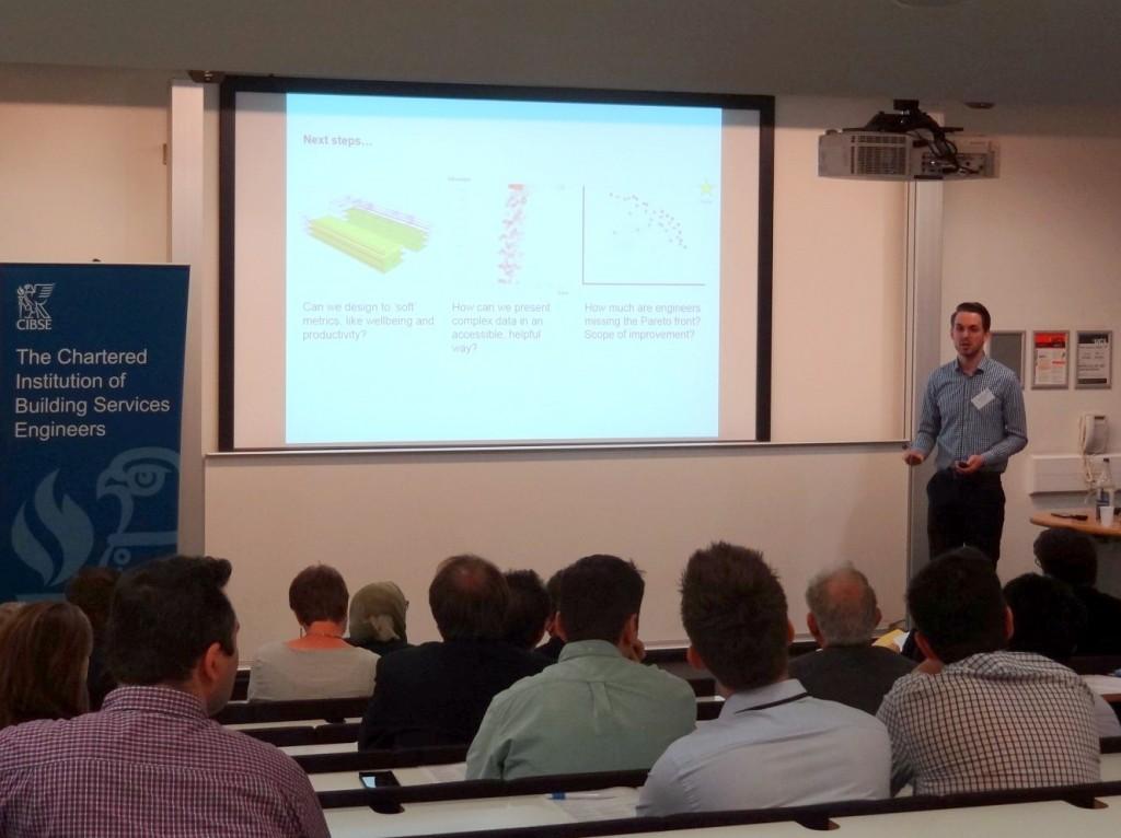 James Ramsden presenting SmartBuildingAnalyser at CIBSE Technical Symposium 2015