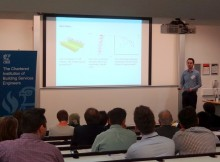James Ramsden presenting SmartBuildingAnalyser at CIBSE Technical Symposium 2015