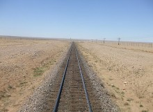 The Gobi desert from the Trans Siberian train through Mongolia