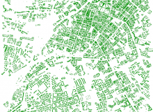 Creating meshes from polylines of building outlines of a whole city, created in Grasshopper
