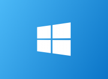 Windows logo on a blue background