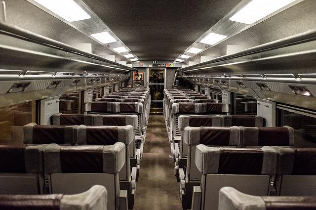 Eurostar inside seats standard class