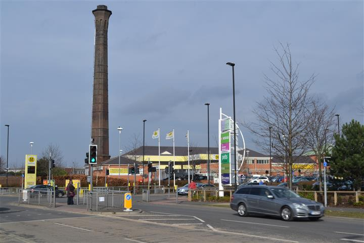 Foss Islands York Morrisons and chimney
