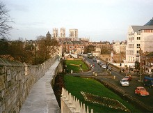 York city walls, overlooking Minster
