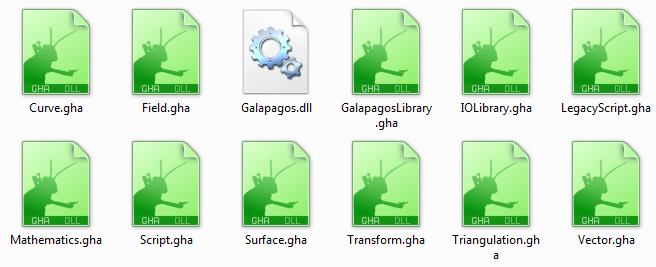 Grasshopper GHA extension files