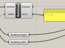Grasshopper component Batchrun for looping
