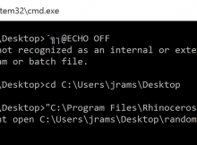 batch file BOM error