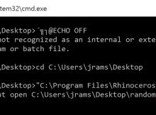 batch file BOM error