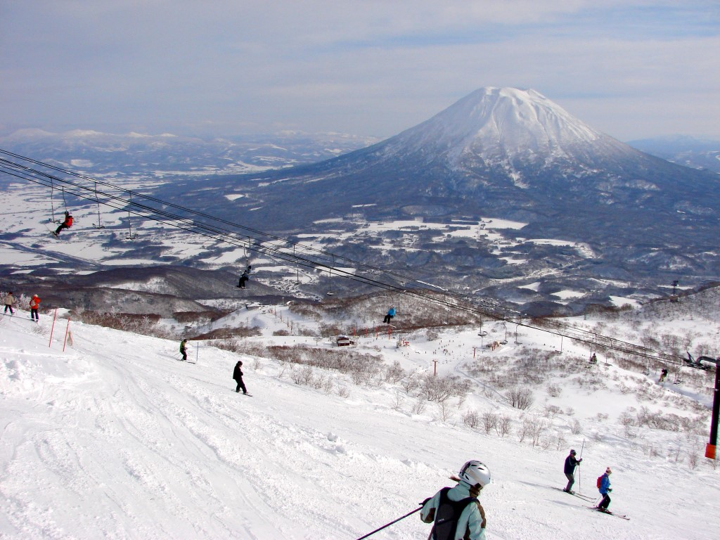 View of Mount Yotei from Niseko ski resort, Hokkaido