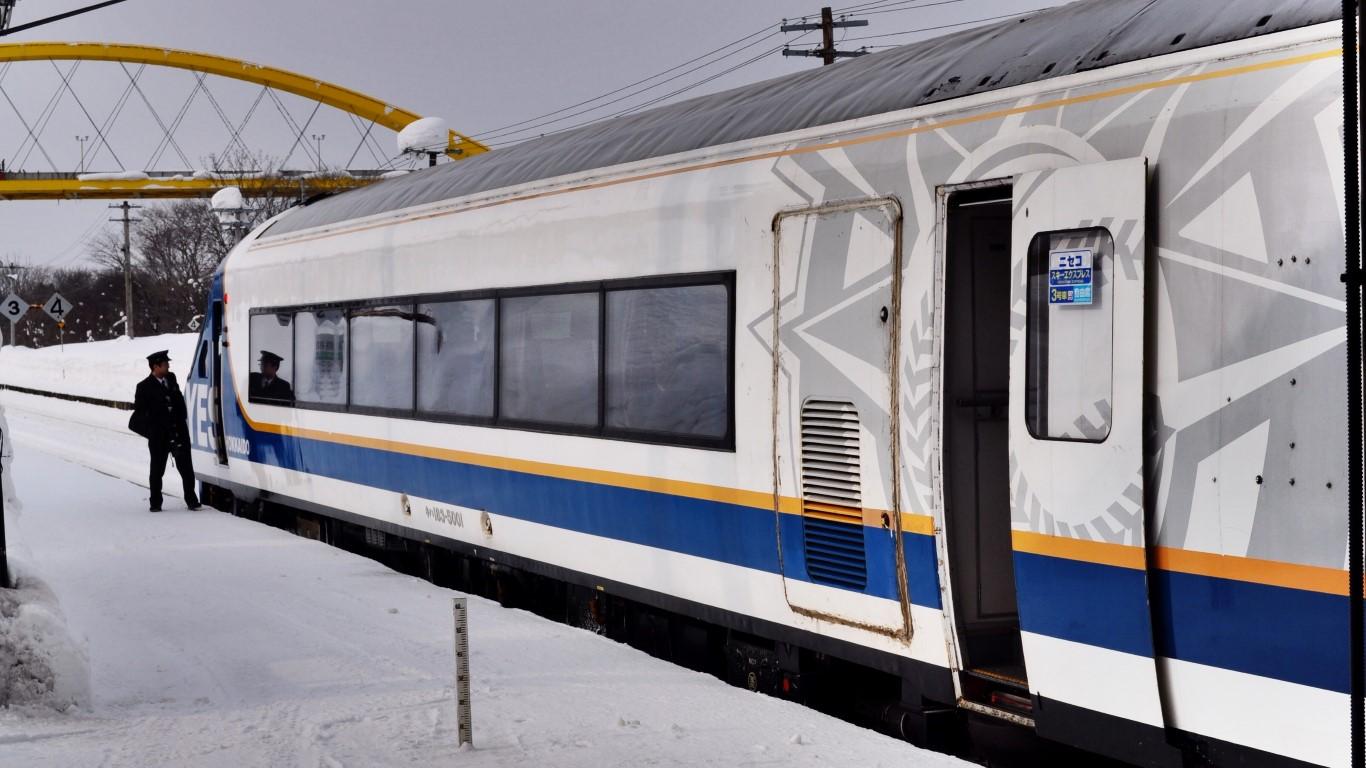 Niseko Ski Express train, Hokkaido Japan